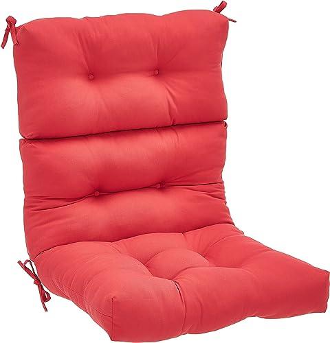Amazon Basics Tufted Outdoor High Back Patio Chair Cushion