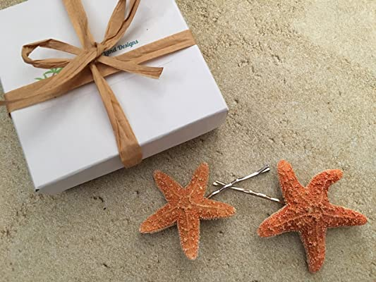 Sugar Starfish Bobby Pins, Set of 2