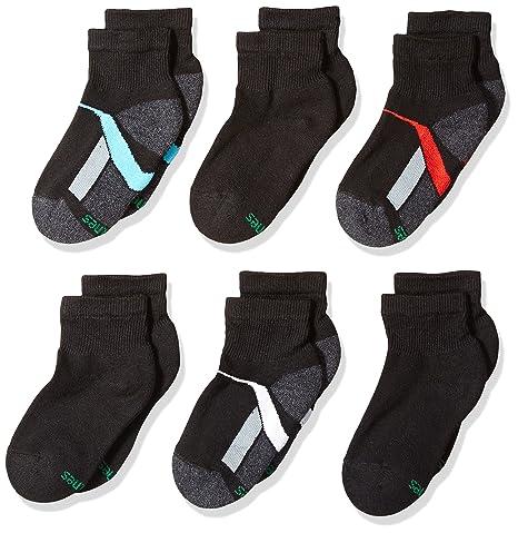 Hanes Big Boys 12-Pack Ankle Socks,Black,Medium