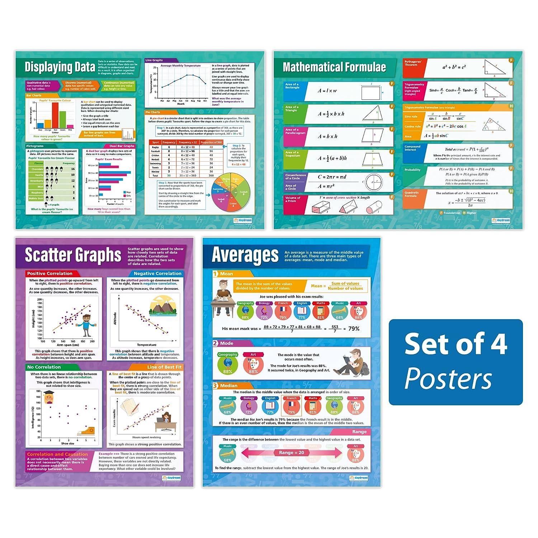 Amazon.com: Probability and Statistics - Set of 4 | Classroom ...