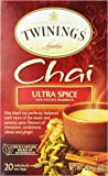 Twinings Ultra Spice Chai, 20 Individual Tea Bags, 1.41 Ounce