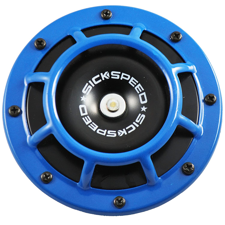 Sickspeed Blue Super Loud Single Electric Blast Tone Horn for Car/Truck/SUV 12V P1 for Kia Sorento
