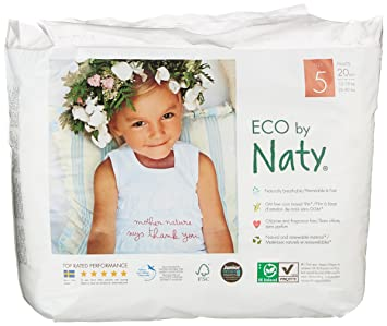 Naty by Nature Babycare Size 5 ECO Pull On Pants - 4 x Packs of 20