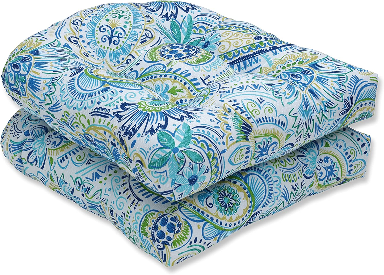 Pillow Perfect Outdoor Indoor Gilford Baltic Wicker Seat Cushion Set of 2 , 2 Piece
