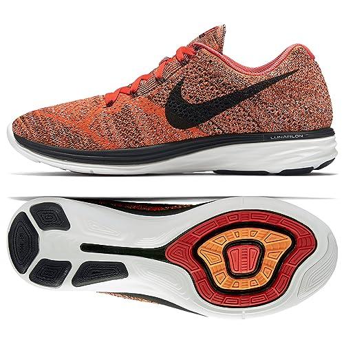 best loved c6d19 8e756 Nike Flyknit Lunar3, Zapatillas de Running para Hombre, Rojo/Negro/Naranja  (Brght Crmsn/Blk-Hypr Orng-SMMT), 48 1/2 EU: Amazon.es: Zapatos y  complementos