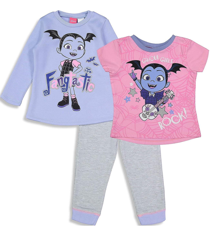32caa327d Amazon.com: Disney Vampirina Toddler Girls' 3 Piece Fleece Top Tee & Pants  Clothing Set: Clothing