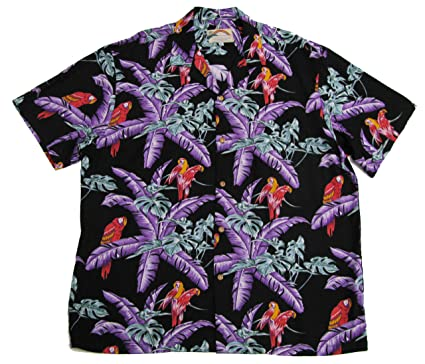 540c52b8 Amazon.com: Paradise Found Mens Jungle Bird Tom Selleck Magnum PI Rayon  Shirt: Clothing