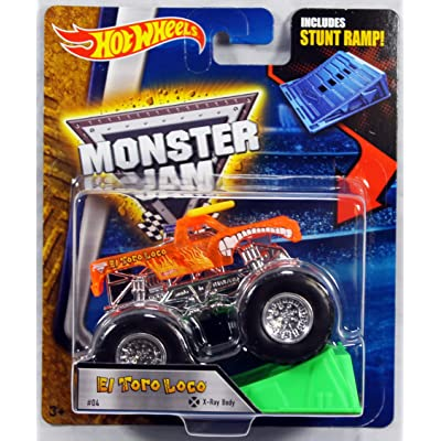 Hot Wheels Monster Jam 1:64 Scale - El Toro Loco with Stunt Ramp #04: Toys & Games