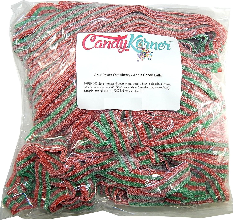 SourPower Sour Belts Strawberry Apple 1 Pound ( 16 OZ )