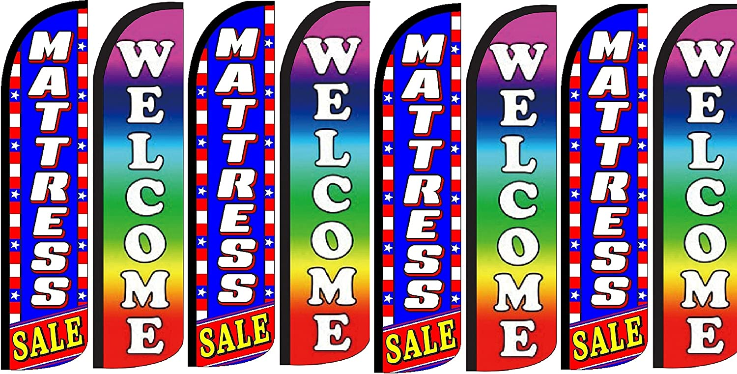 Mattress Sale Welcome King Windless Flag Pack of 8 Hardware not Included