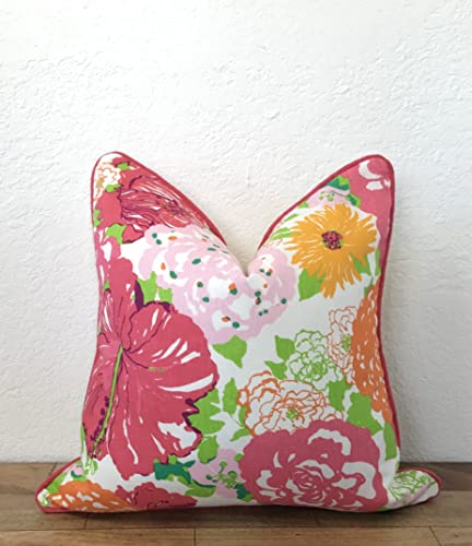 Amazon Lilly Pulitzer Heritage Floral Pillow Pink Pillow Inspiration Lilly Pulitzer Decorative Pillows