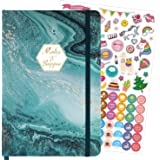 Bullet Dotted Journal - Dotted Grid Notebook/Journal with Hardcover, 5.7''×8.5'', Premium Thick Paper, Large Inner Pocket wit