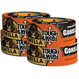 """Gorilla Black Tough & Wide Duct Tape, 2.88"""" x 30 yd, Black, (Pack of 4)"""