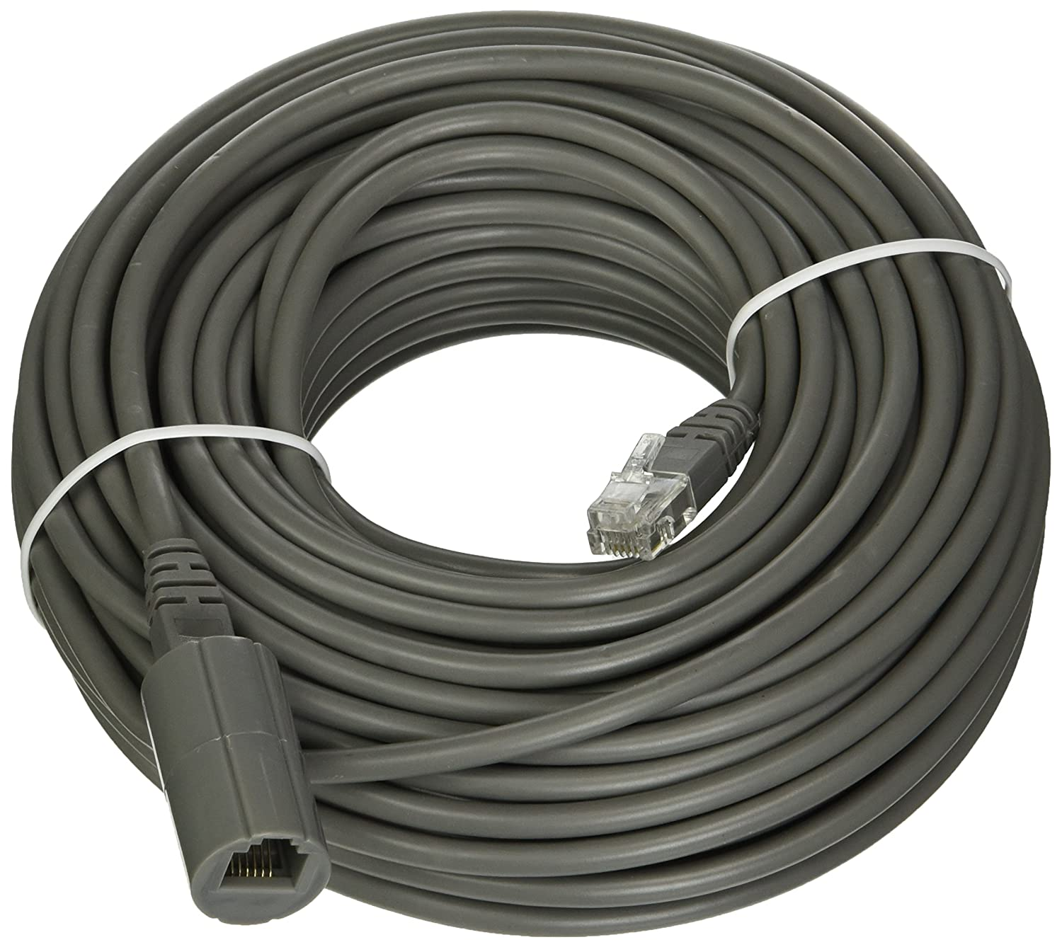 Revo America 200 Feet Rj12 Cable With Coupler Jack Wiring Diagram R200rj12c Grey Computer Ethernet Cables Camera Photo