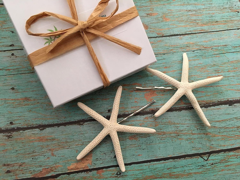 Finger Starfish Beach Bobby Pins, Set of 2