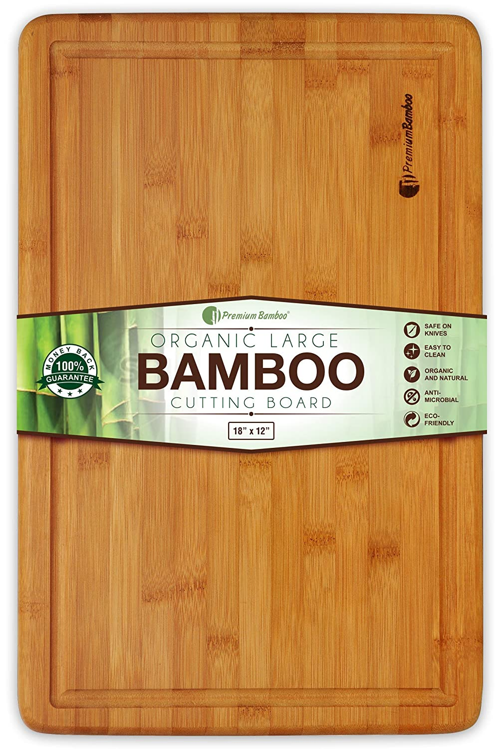 Extra Large Bamboo Cutting Board - 18x12