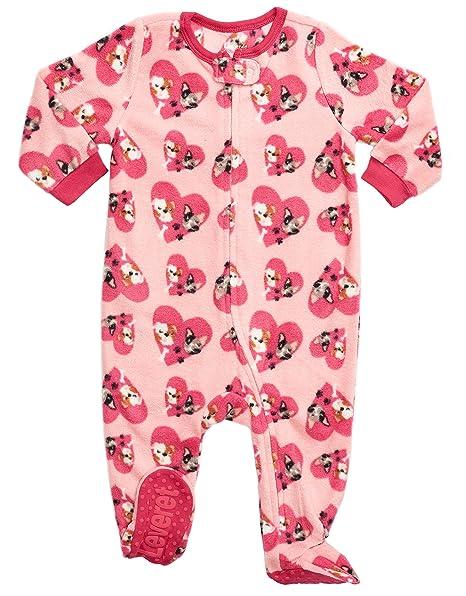 332a7df72b37 Amazon.com  Leveret Fleece Baby Girls Footed Pajamas Sleeper Kids ...
