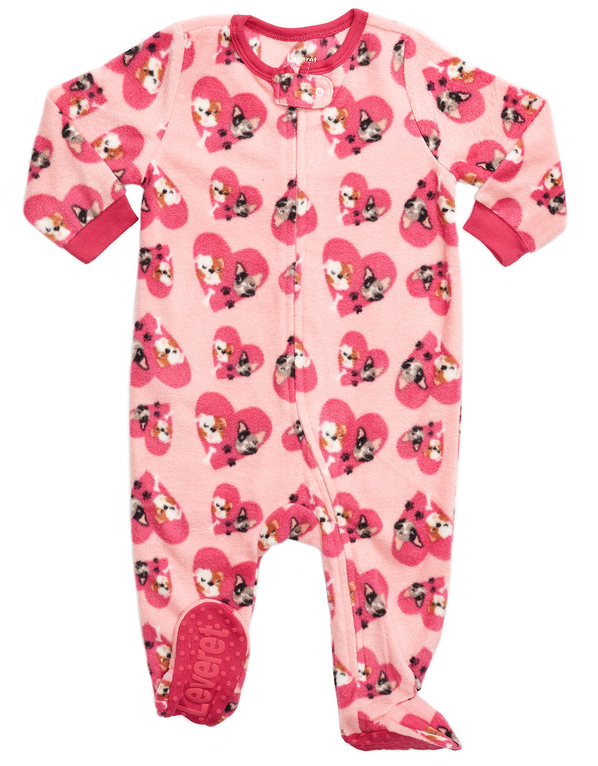 2d23d264cc Leveret Fleece Baby Girls Footed Pajamas Sleeper Kids   Toddler Pajamas (3  Months-5