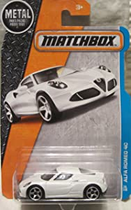 Matchbox 2016 MBX Adventure City Alfa Romeo 4C 26/125, White