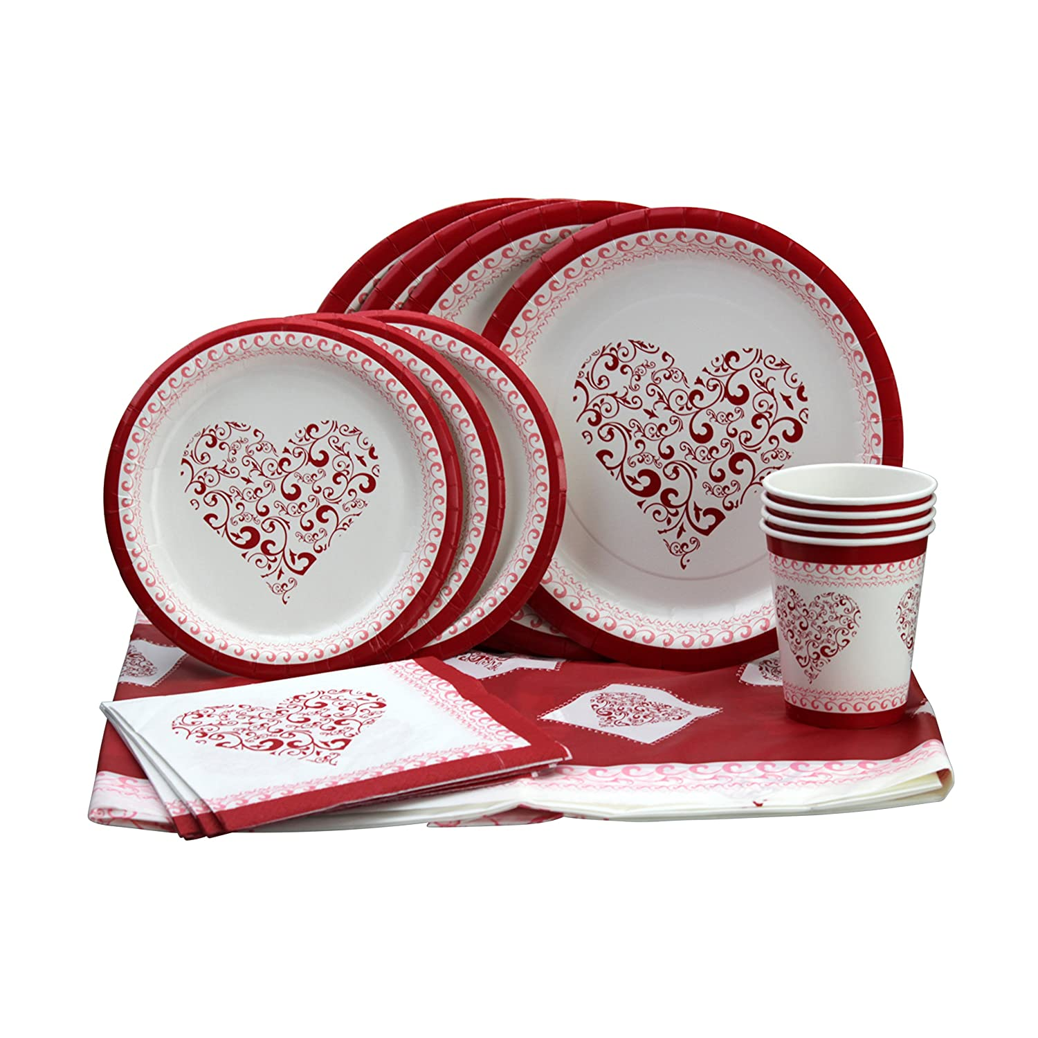 Complete set for your lovely party and Valentineu0027s celebration! Enough tableware for up to 12 guests Premium Value -Rich ...  sc 1 st  Valentineu0027s Day Wikii - Blogger & Valentines Day Party Tableware Bundles | Valentineu0027s Day Wikii