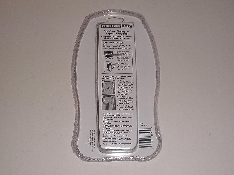 Amazon Craftsman Entryease Fingerprint Keyless Entry Pad