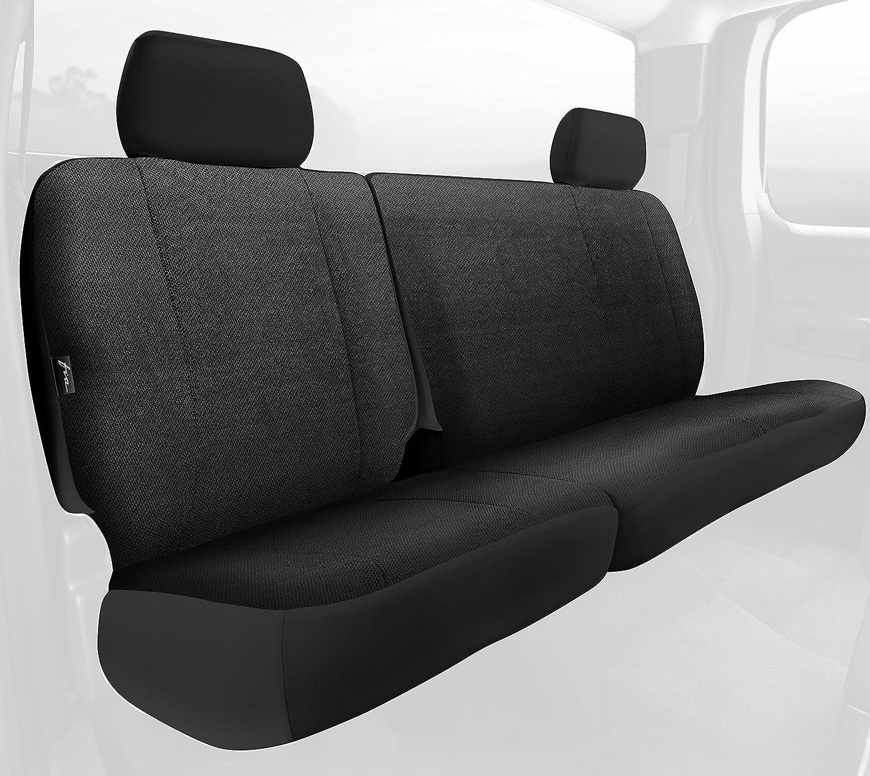 Rear Split Seat 60//40//Saddle Blanket Fia TRS42-25 BLACK TRS40 Solid Wrangler Solid Black Seat Cover