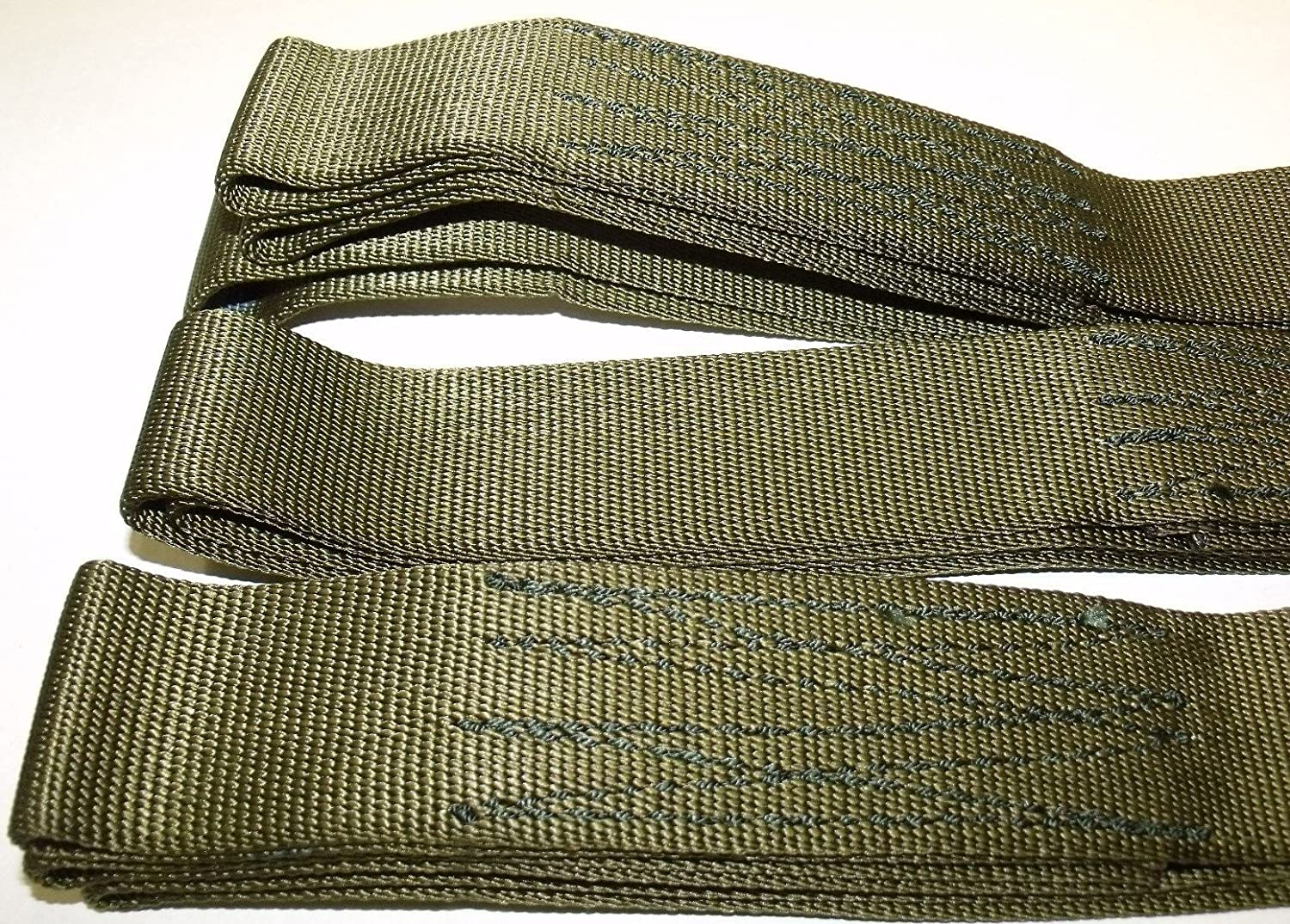 TyCa Industries ATV Tree Saver 2 Piece Set 5 Offroad Tow Cargo Recovery Straps Looped Ends Heavy Duty Sling 9000 lb Military Issue Nylon Webbing USA