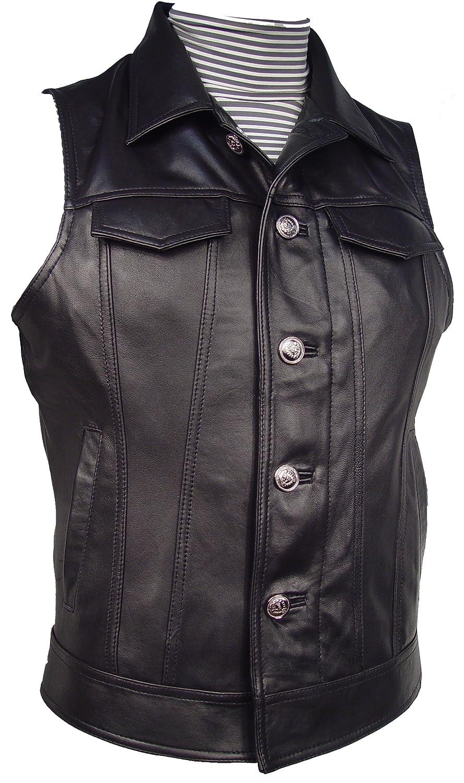 NETTAILOR Mens 1129 Leather Fancy Casual Vest 1129chldchldphrz