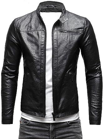 Crone Epic Herren Lederjacke Cleane Basic Leder Jacke in vielen Varianten und Farben
