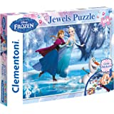 CLEMENTONI -  104 pcs FROZEN - JEWELS PUZZLE