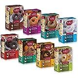 Katz Gluten Free Donut Variety Pack, 1 Powdered, 1 Cinnamon, 1 Chocolate Frosted, 1 Glazed, 1 Pumpkin Pie spice, 1 Sea Salt Caramel, 1 Glazed Chocolate, 1 Triple Chocolate, (Pack Of 8)