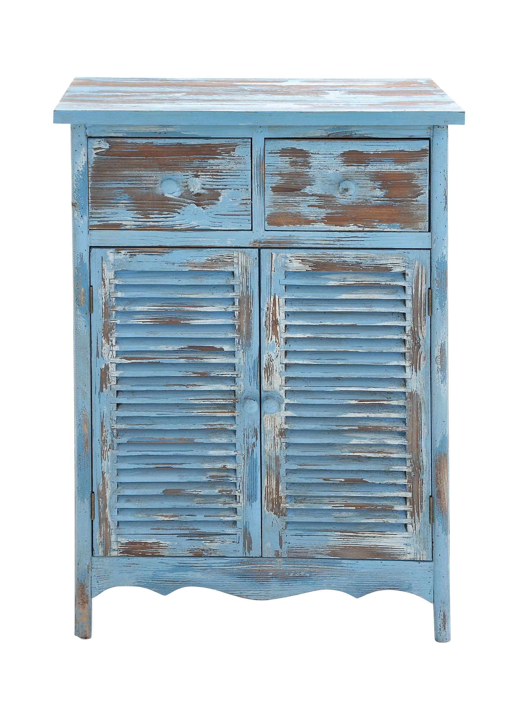 Benzara The Rural Wood Cabinet