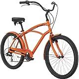 "Raleigh Bikes Retroglide 7 Cruiser Bike, Orange, 18""/One Size"