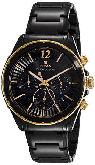 3e7be9b5a9a25 Buy Titan Regalia Sovereign Analog Black Dial Men s Watch-1748KM02 Online at  Low Prices in India - Amazon.in