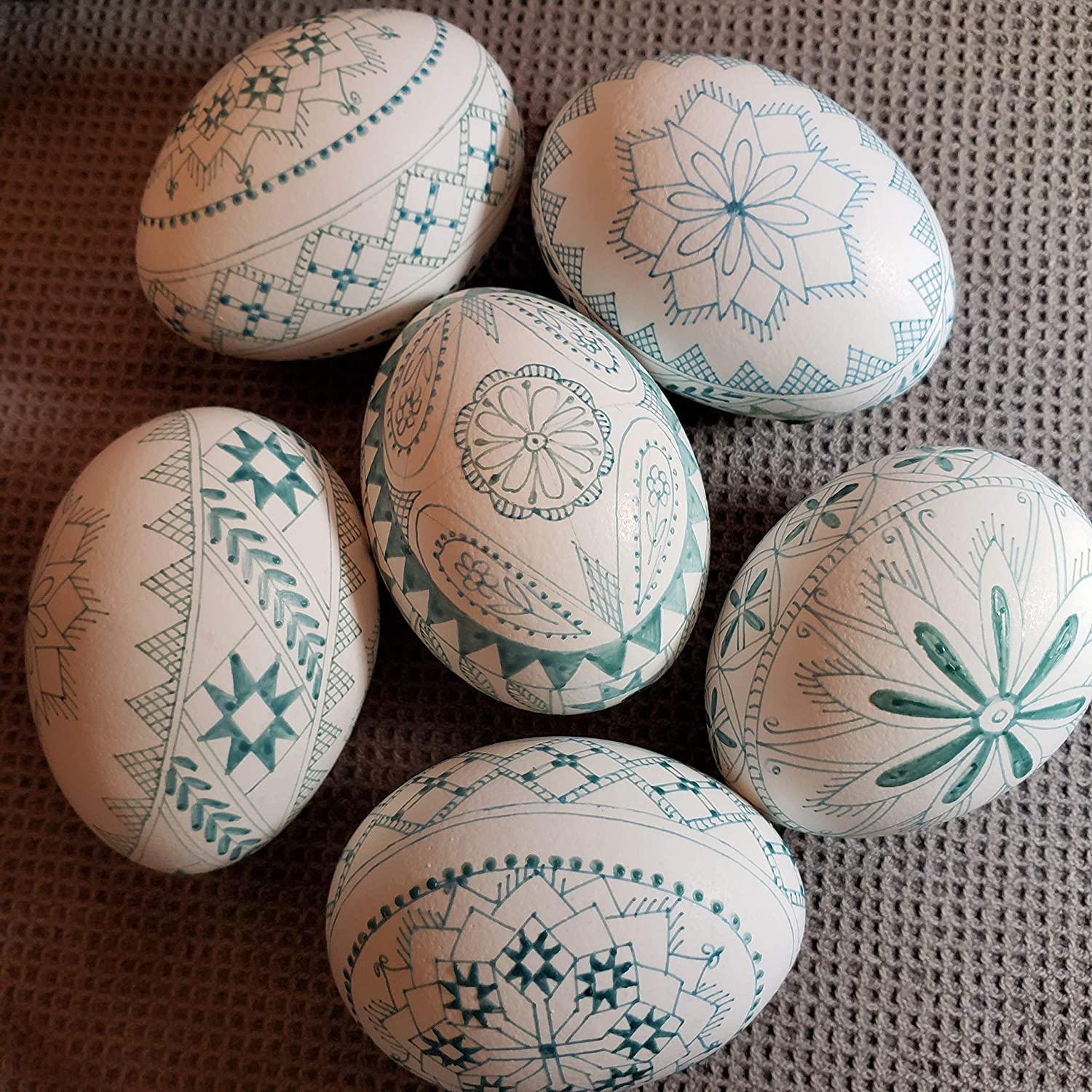 Pysanky eggshell ornament Easter eggs supplies clean chicken eggshells outlined in beeswax to get you started one egg
