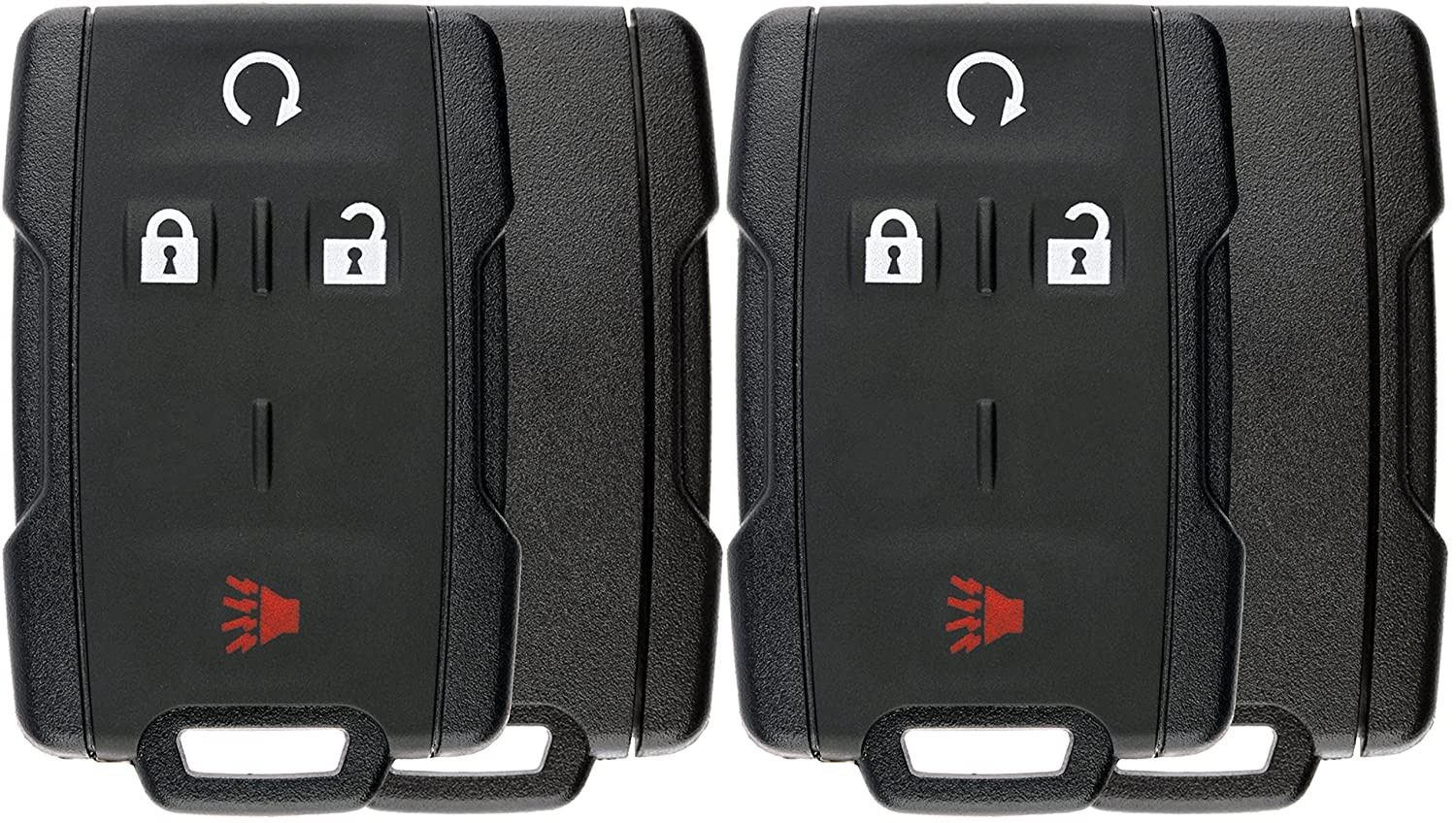 Pack of 2 KeylessOption Keyless Entry Remote Control Car Key Fob Case Shell Button Pad Outer Cover for M3N-32337100