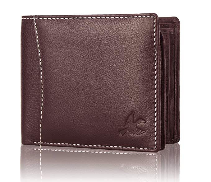 Hornbull Men'S Brown Themes Leather RFID Blocking Wallet-Best-Popular-Product