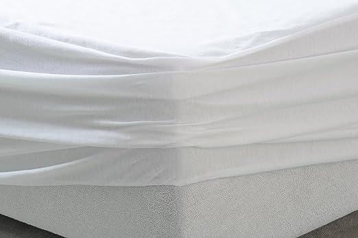 Tural - Protector de colchón y Sábana Bajera 2 en 1 Impermeable y Transpirable. Tejido 100% Algodón. Pack 2 uds. Talla 90x200cm: Amazon.es: Hogar