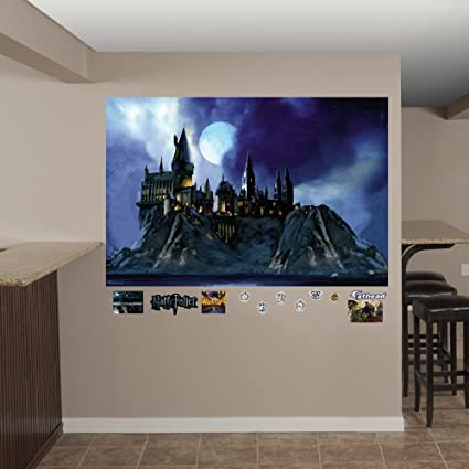 Amazoncom Fathead Hogwarts Castle Real Decals Mural Home Kitchen