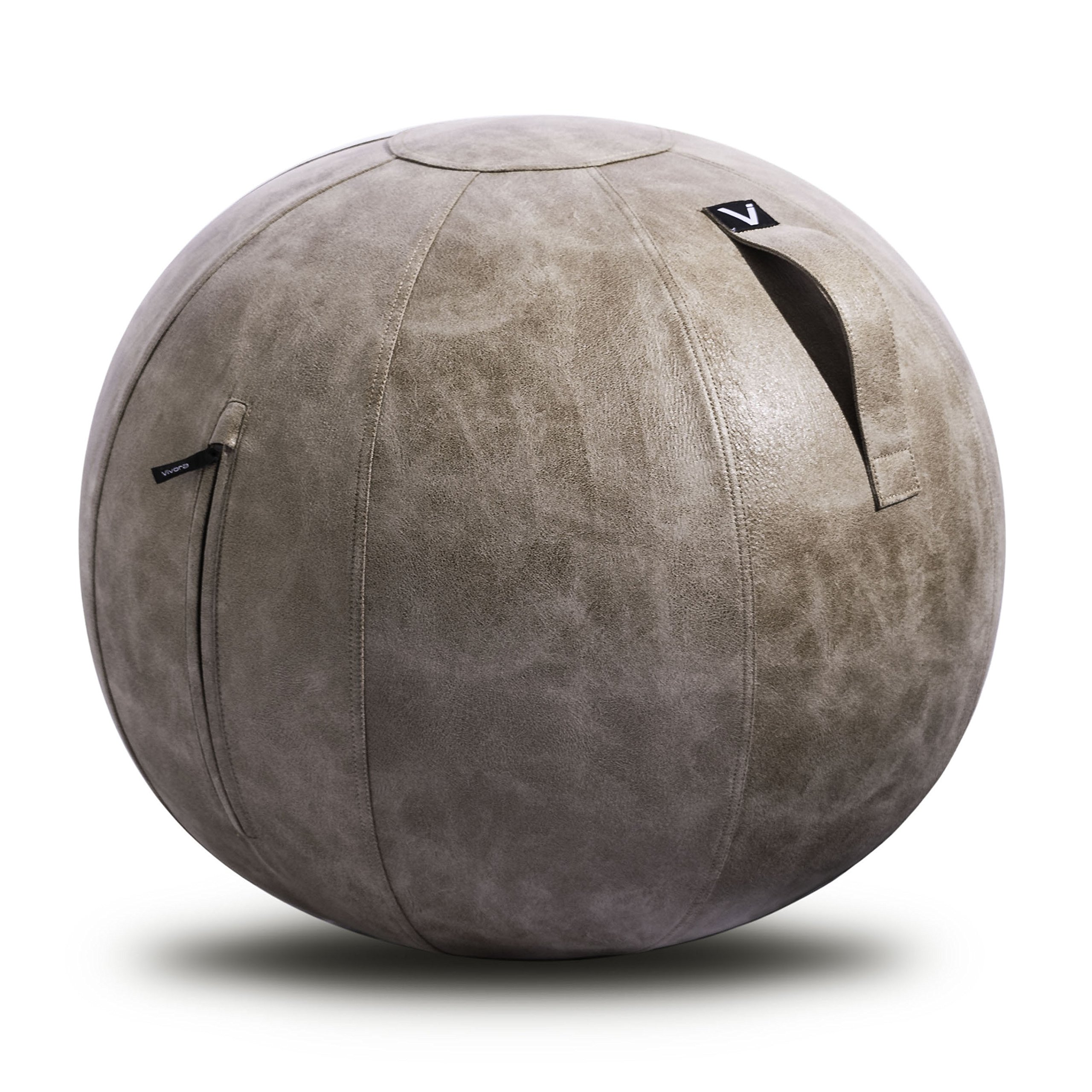 Vivora Luno - Sitting Ball Chair for Office and Home, Lightweight Self-Standing Ergonomic Posture Activating Exercise Ball Solution with Handle & Cover, Classroom & Yoga, Standard by Vivora