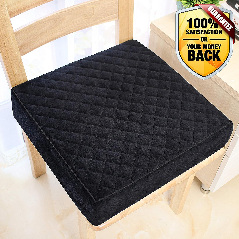 15.8x15.8x2.8 Inches Medium Firm Pure Memory Foam Pad Large Chair Seat Cushion
