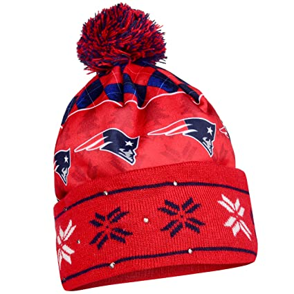 8eeaa4825ff Image Unavailable. Image not available for. Color  New England Patriots  Exclusive Busy Block Printed Light Up Beanie