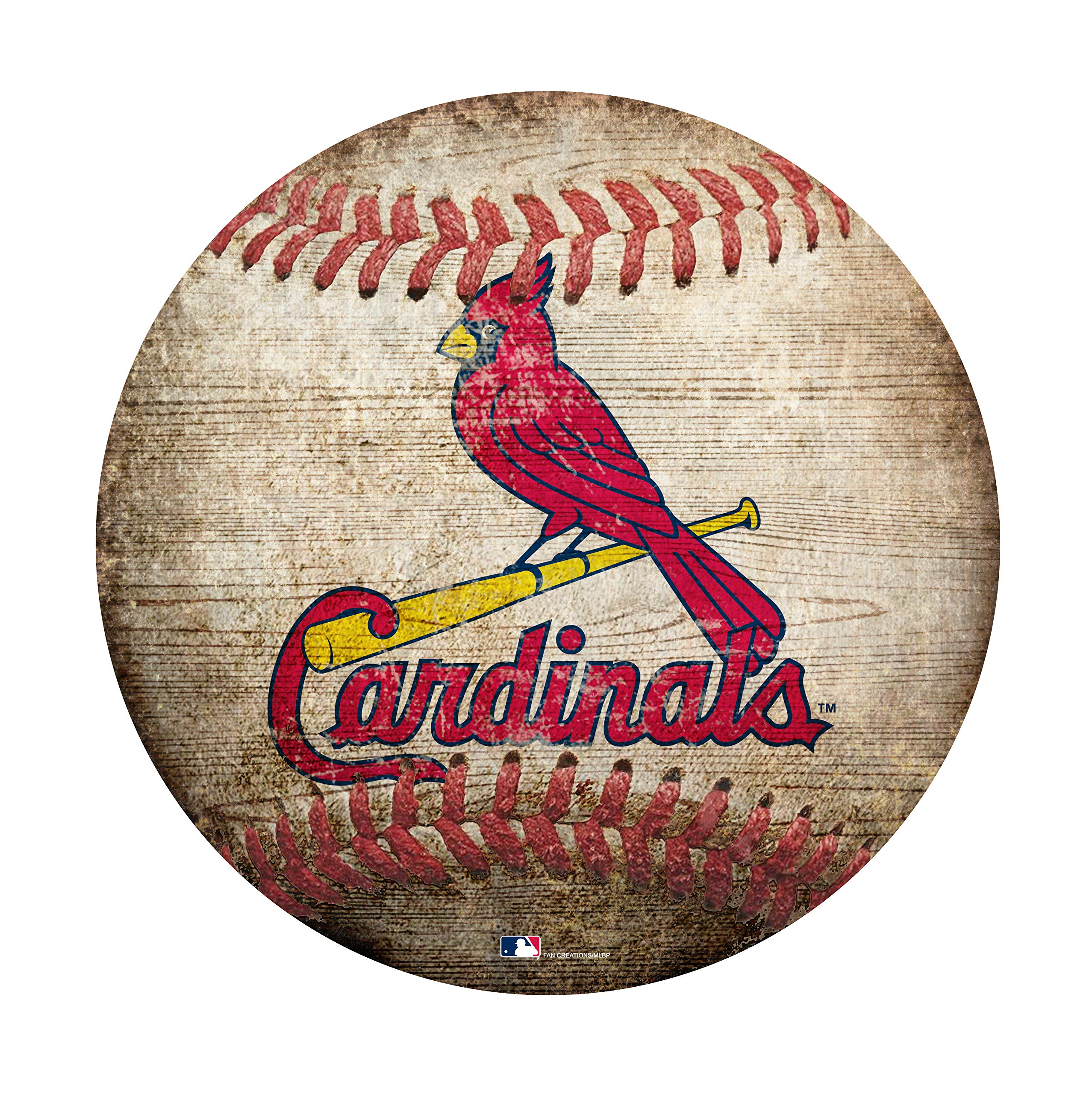 Fan Creations MLB St. Louis Cardinals 12'' Baseball Shaped Sign by Fan Creations