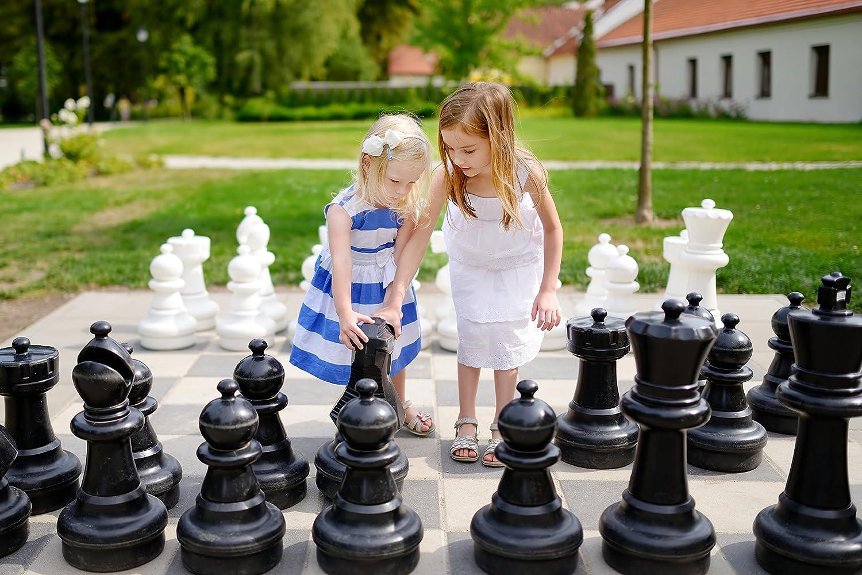 Chess House Juego de ajedrez Gigante (25 Pulgadas King), Color Blanco y Negro: Amazon.es: Juguetes y juegos
