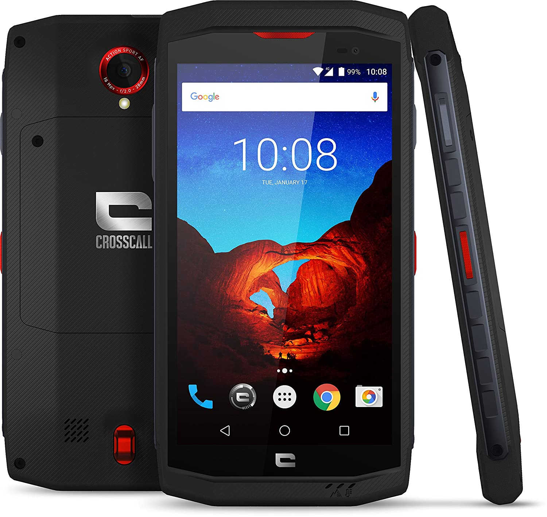Crosscall Trekker X3 - Smartphone dual Sim, 4G, cámara de 16 MP y 8 MP, 3GB/32GB, color negro, rojo: Crosscall: Amazon.es: Electrónica
