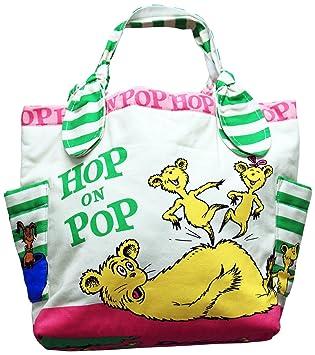 503d1b3d33d4 Amazon.com: Dr. Seuss Hop On Pop Small Tote Bag: Kitchen & Dining