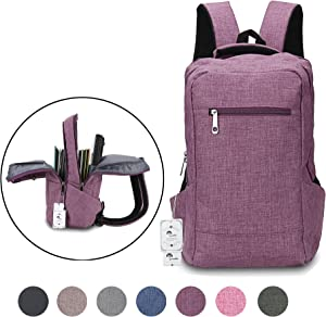 Winblo 15 15.6 Inch Lightweight Travel Laptop Backpack Bag Shoulder College Backpacks
