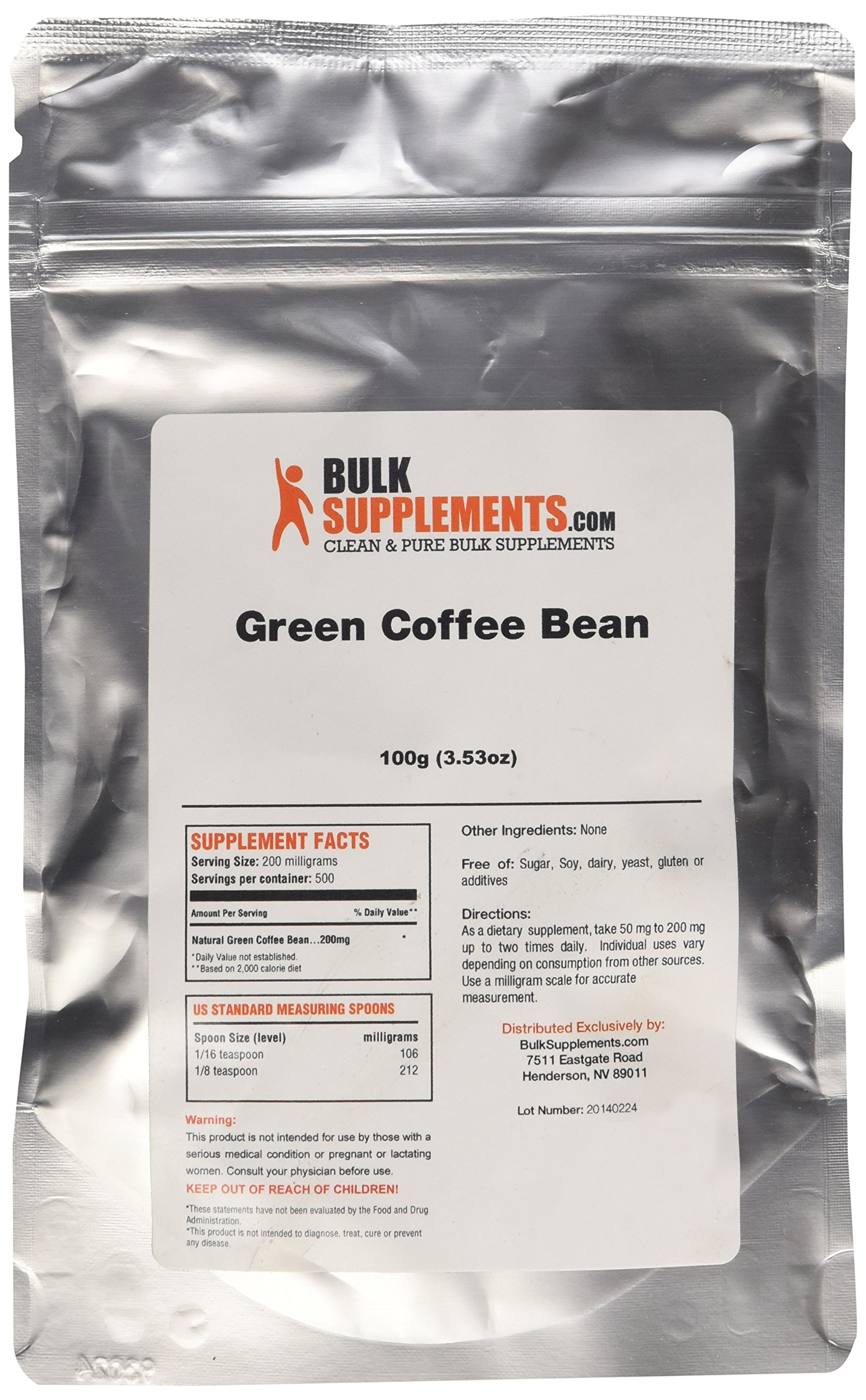 BulkSupplements Green Coffee Bean Powder (100 grams) by BulkSupplements (Image #2)