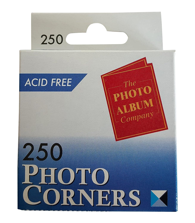 Photo Album Company Photo Corners White Pack of 250 PC250