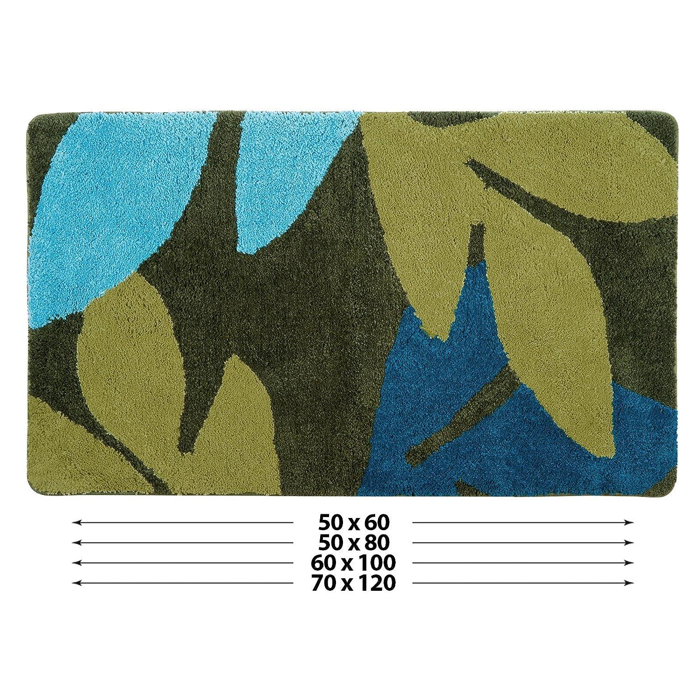 Plusieurs Tailles au Choix casa pura Tapis de Bain Sarah certifi/é Oeko-Tex 100 et Lavable Poil tr/ès Doux 50x80cm